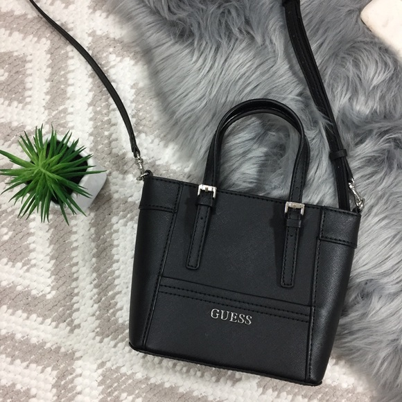 b29692fa55 Guess Handbags - GUESS Black Mini Crossbody Purse